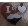 Perspex heart - Movember Special